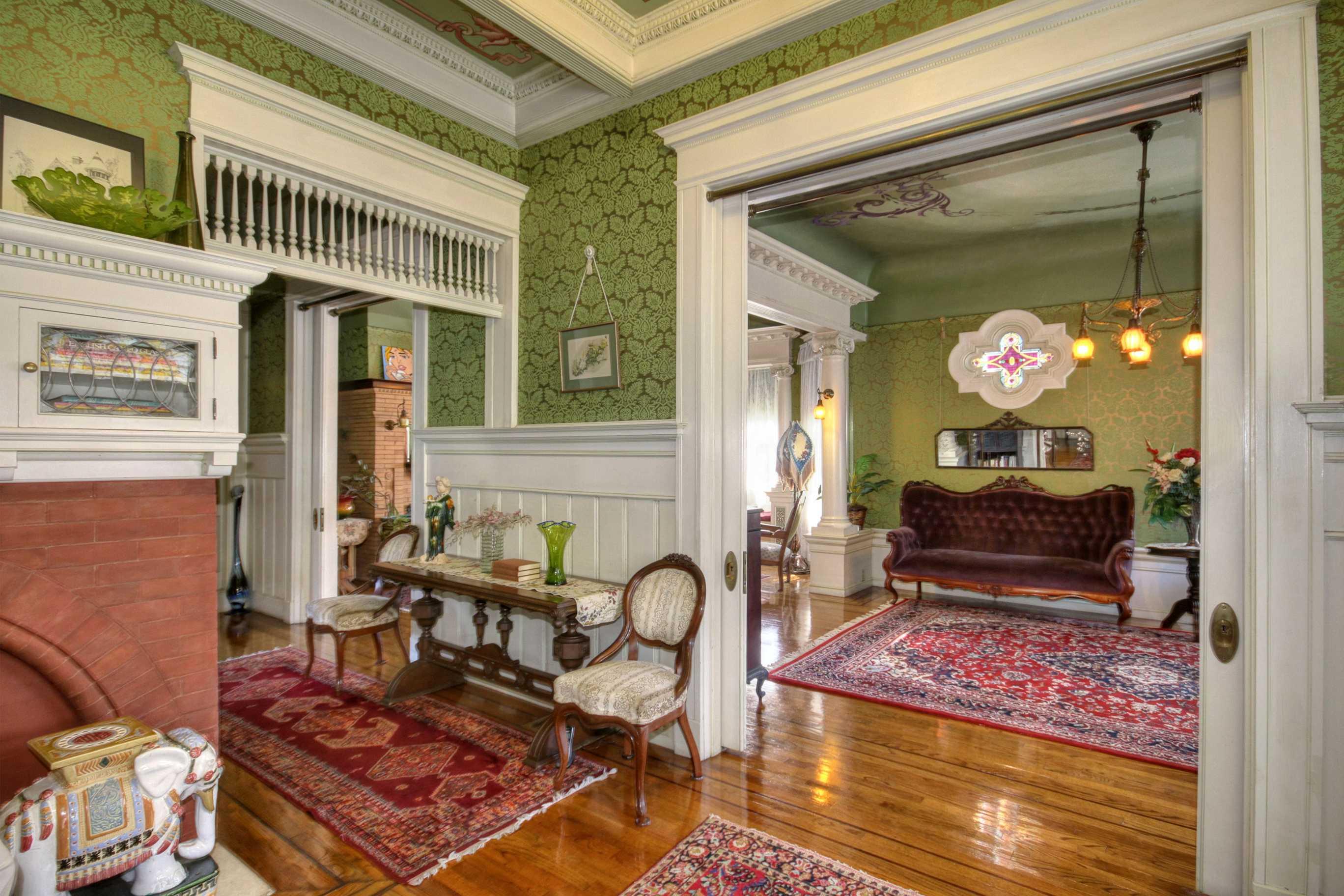 Sacramento Victorian mansion foyer