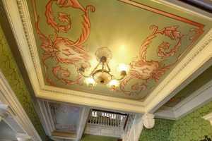 Sacramento Victorian mansion ceiling