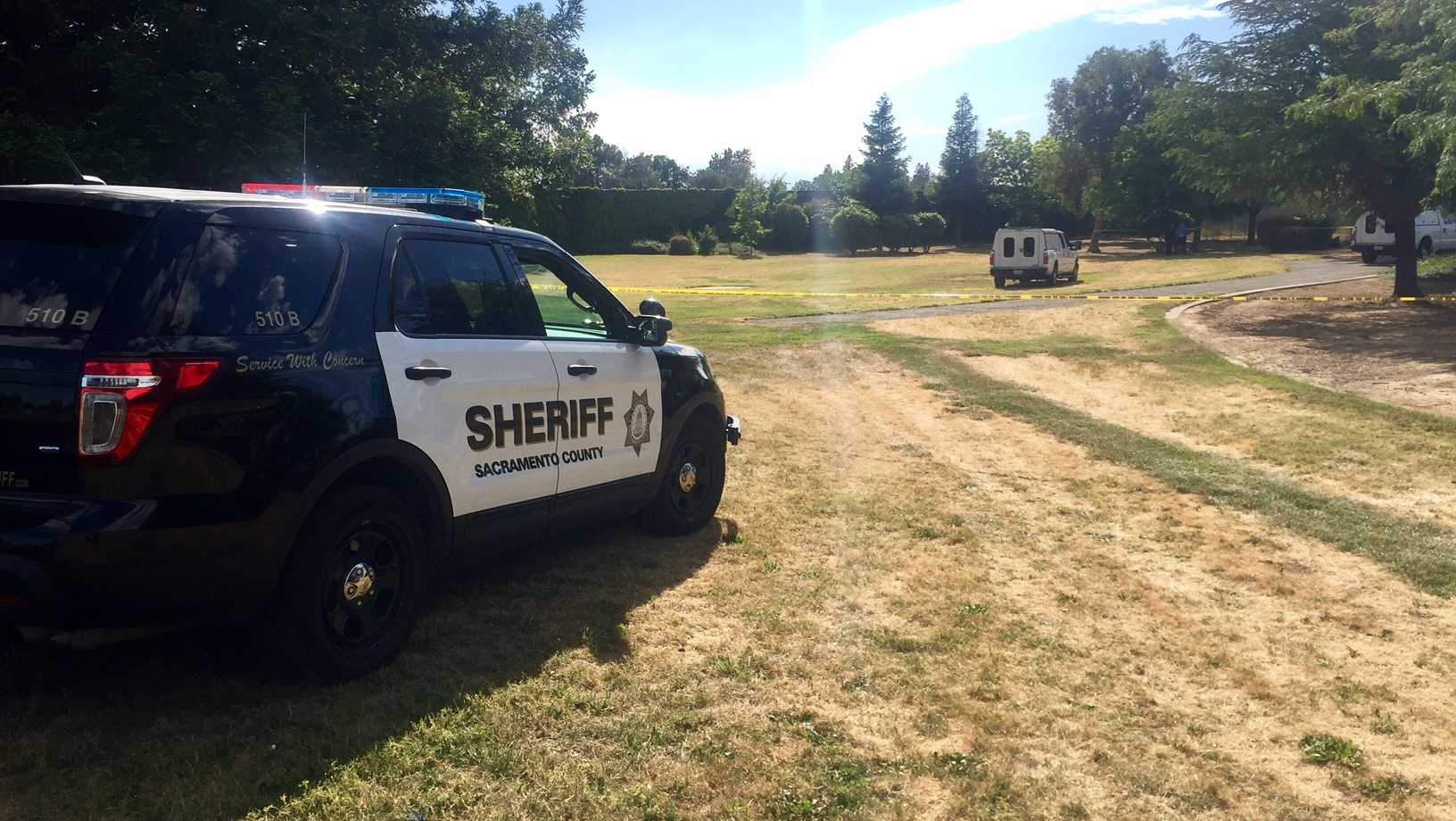 A man was found dead near a south Sacramento park on Sunday, May 14, 2017, the Sacramento County Sheriff's Department said.