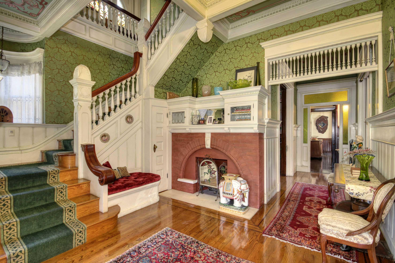 Sacramento Victorian mansion stairs