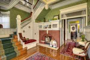 Sacramento Victorian mansion stairs