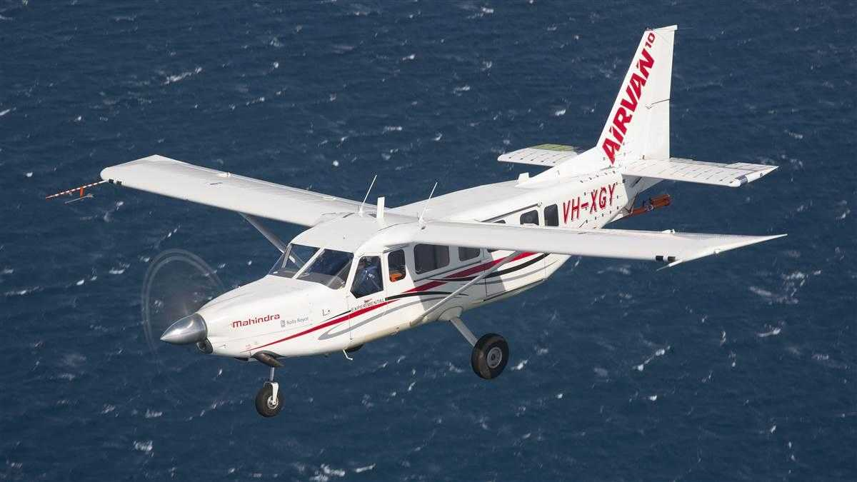 Photo of aGA10/AIRVAN10 aircraftthat is manufactured byGippsAero, a Australian company owned byMahindra Group.