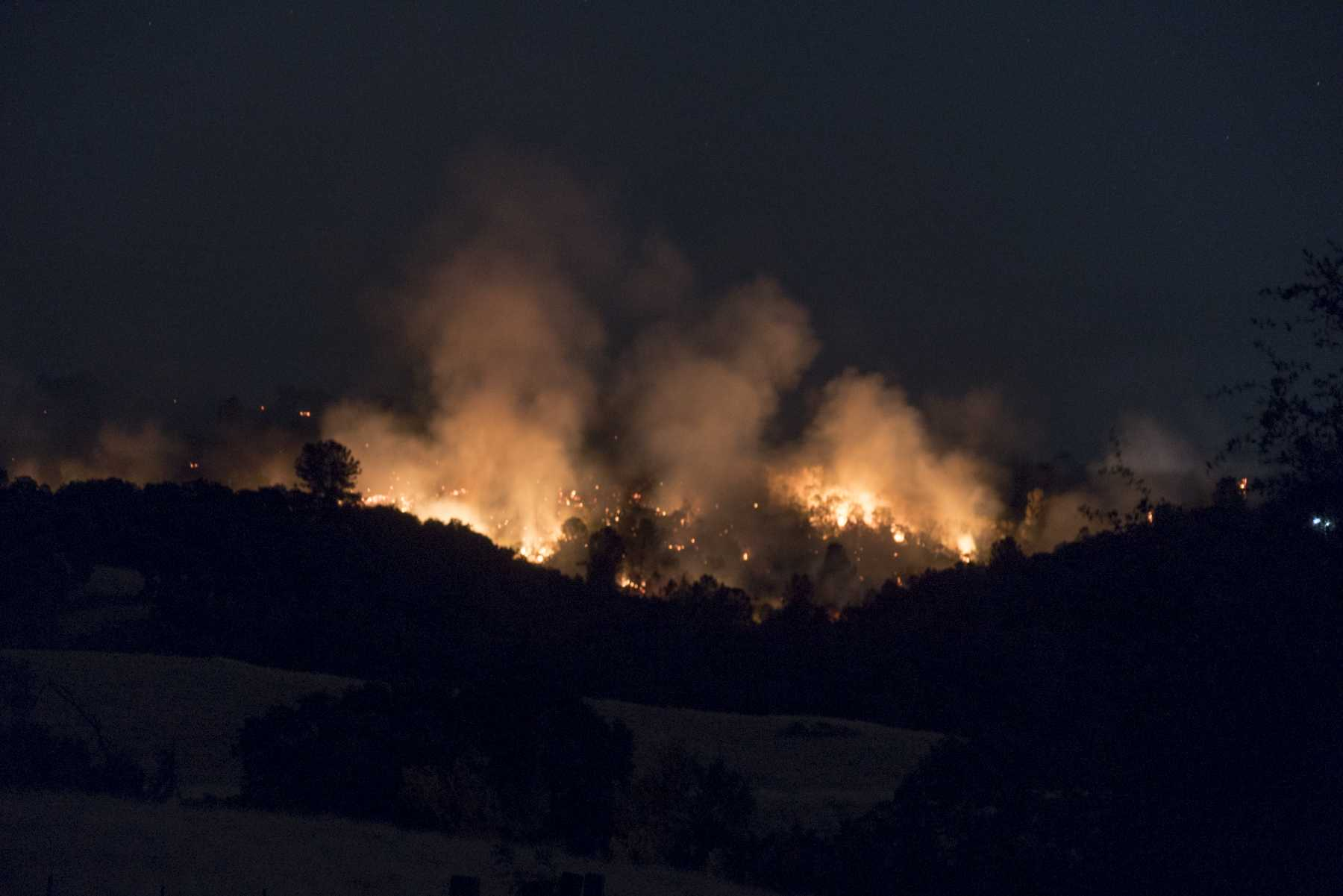 Evacuations issued due to wildfire in Tuolumne County
