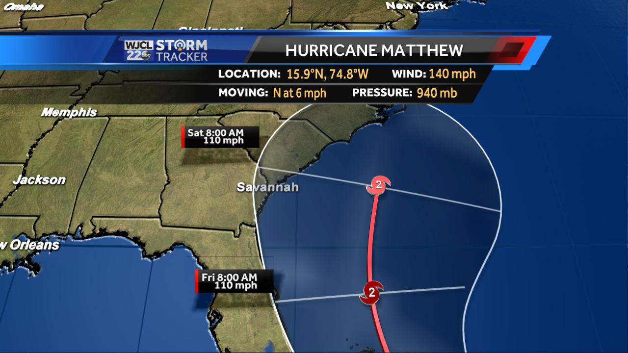 Matthew a little stronger, track gets closer to coast