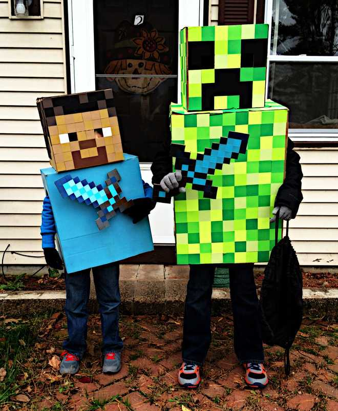 Amazing diy halloween costumes minecraft characters wdsu tv solutioingenieria Images
