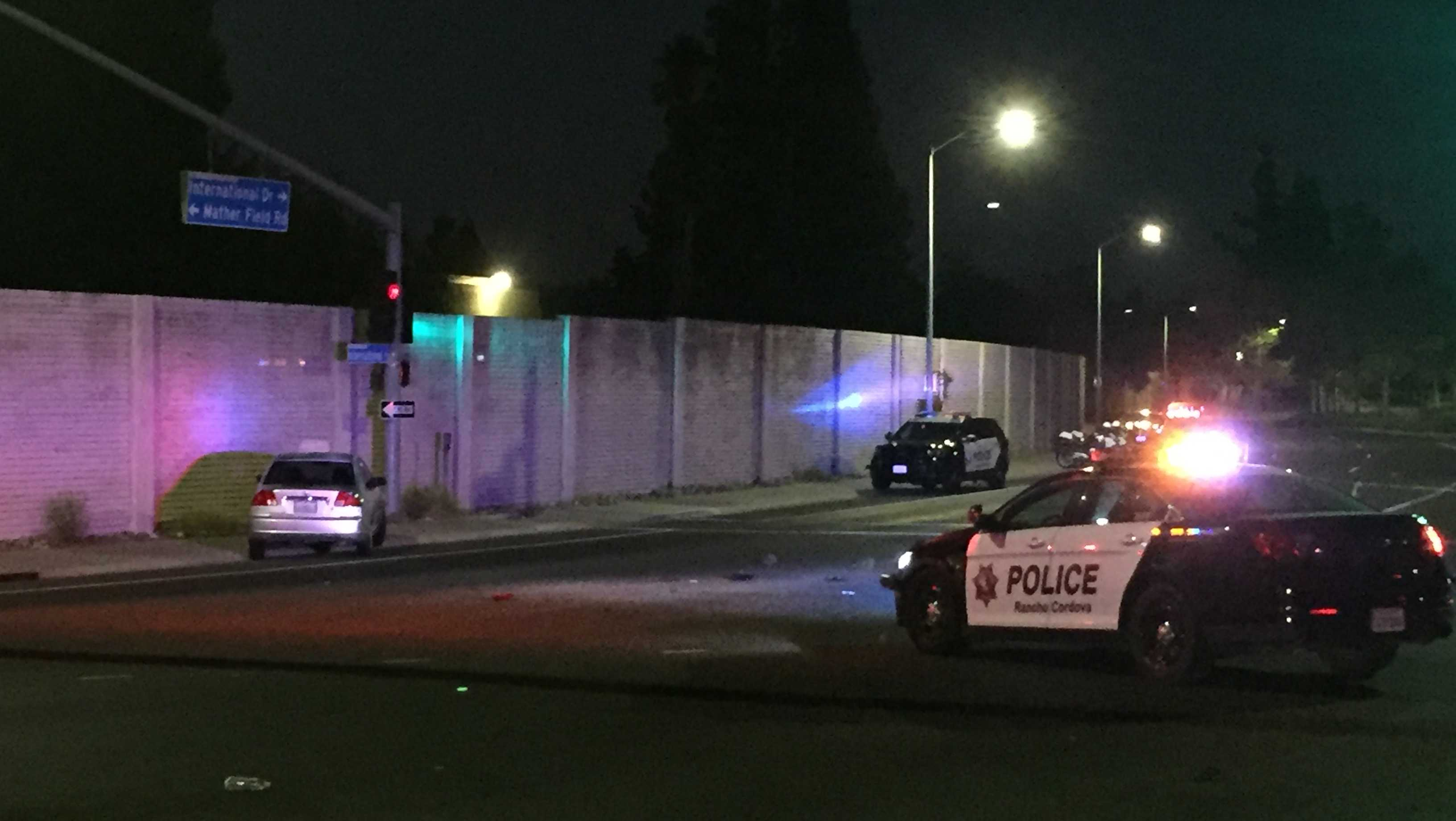 Officers investigate after a man was hit by car and killed Friday, Oct. 6, 2017, in Rancho Cordova, police said.