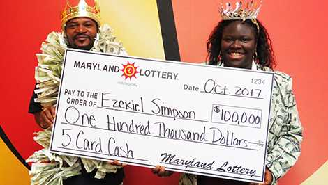 Md lottery 100000 top prize Ezekiel Simpson