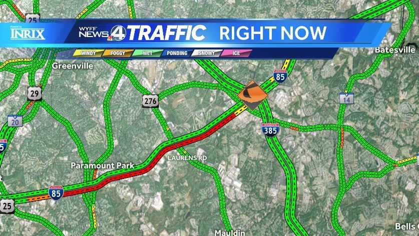 I-85 traffic map