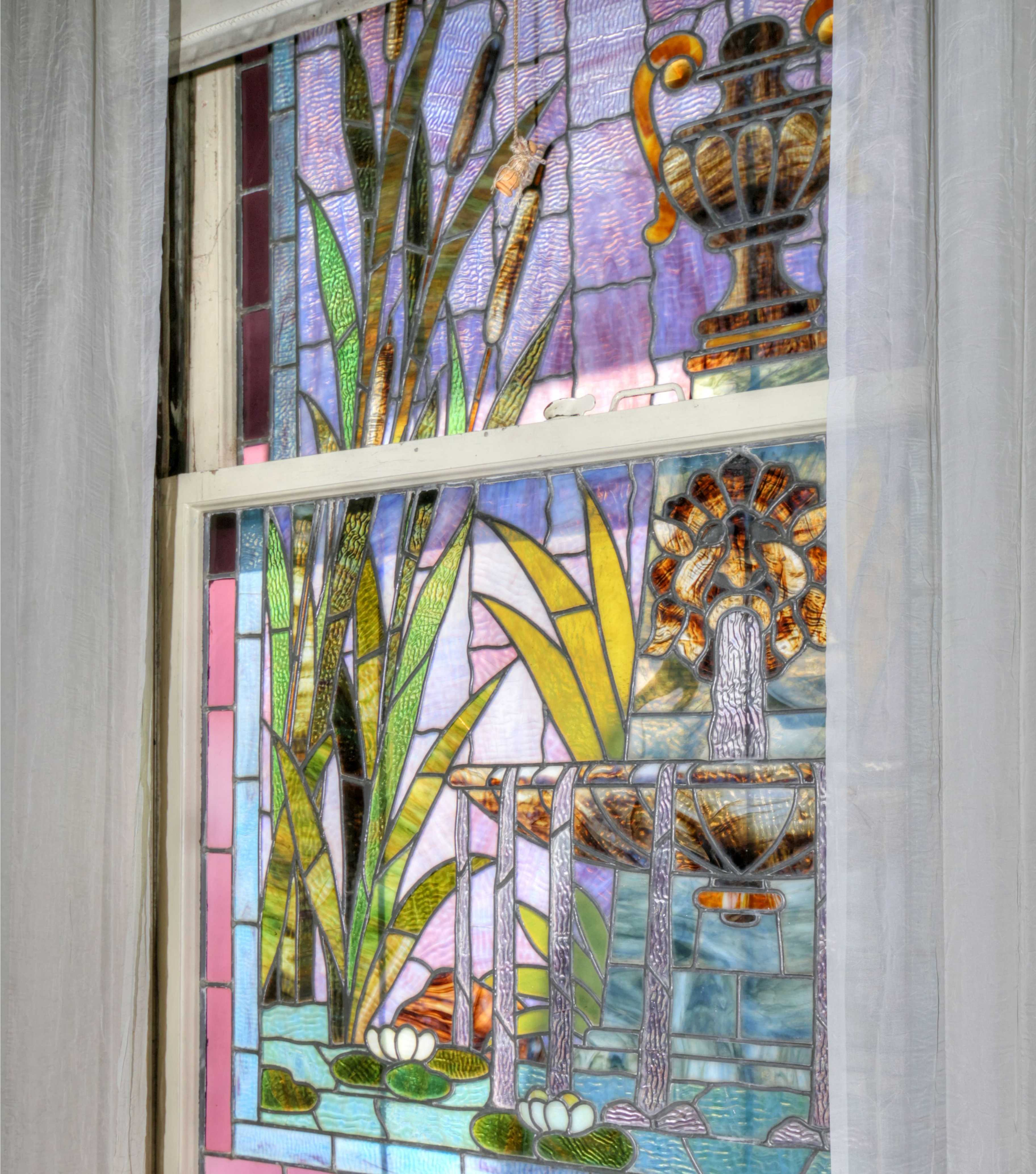 Sacramento Victorian mansion stained glass window