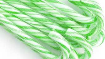 Green candy canes
