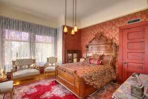 Sacramento Victorian mansion bedroom