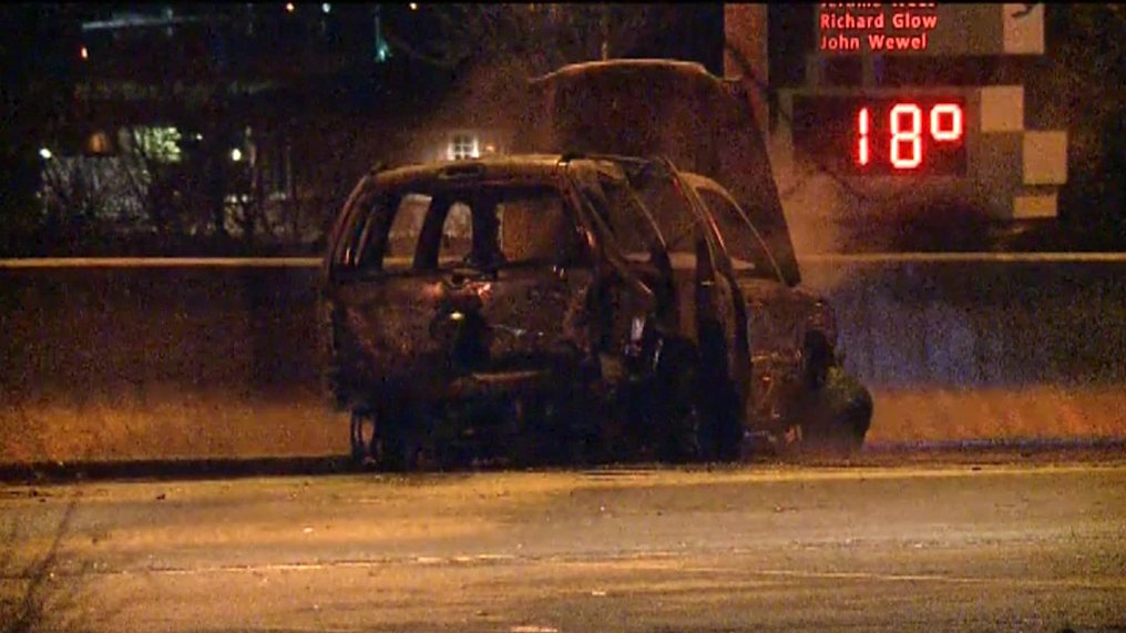 Crash, car fire 144th & West Dodge Rd
