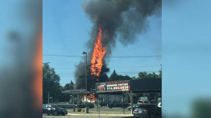 Rv Fire near AM/PM