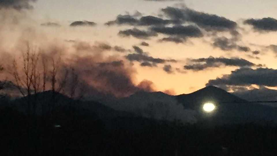 Buncombe County fire off Pisgah Hwy 151