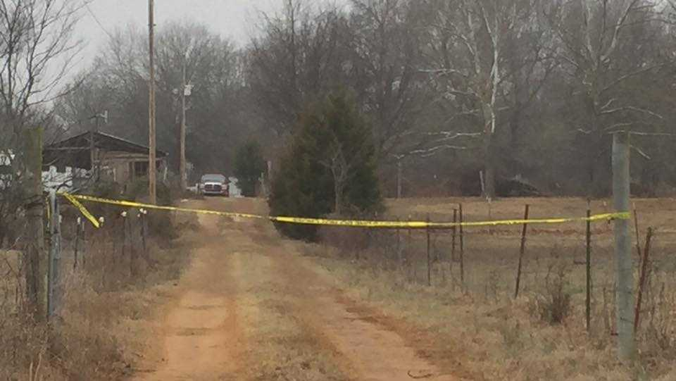 This where the Sequoyah County Sheriff says a man buried his wife in the backyard