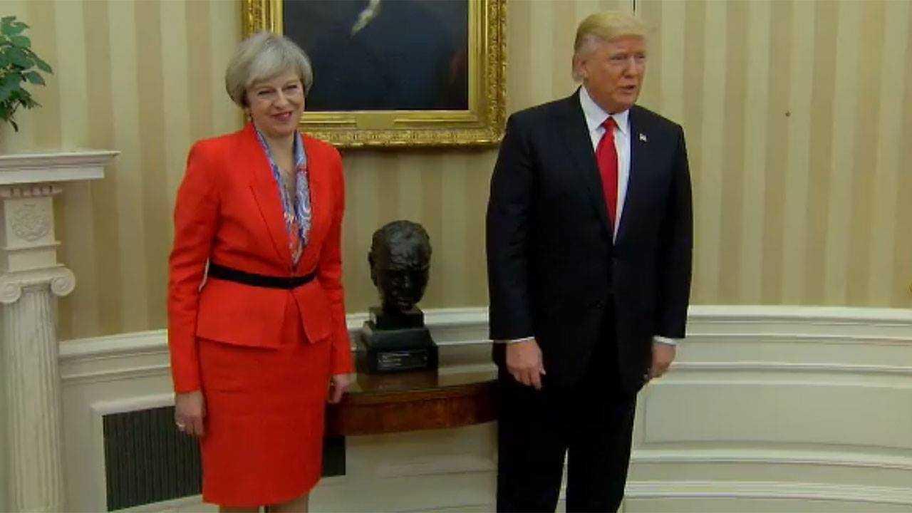 PM Theresa May and President Donald Trump
