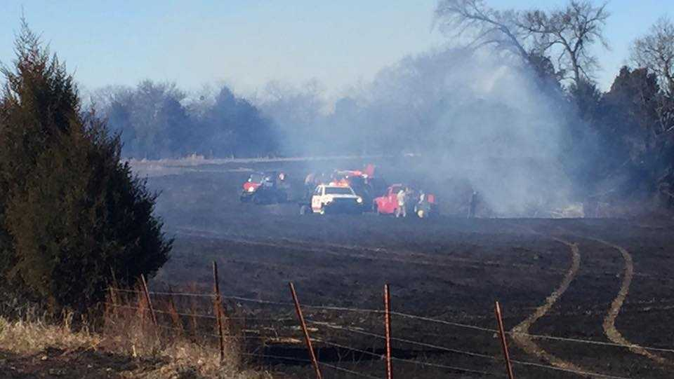 Windy conditions have firefighters dealing with a grass fire in Central City.
