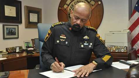 Sheriff Clarke signs letter of intent to seek 287g Task Force and Jail Enforcement authority.
