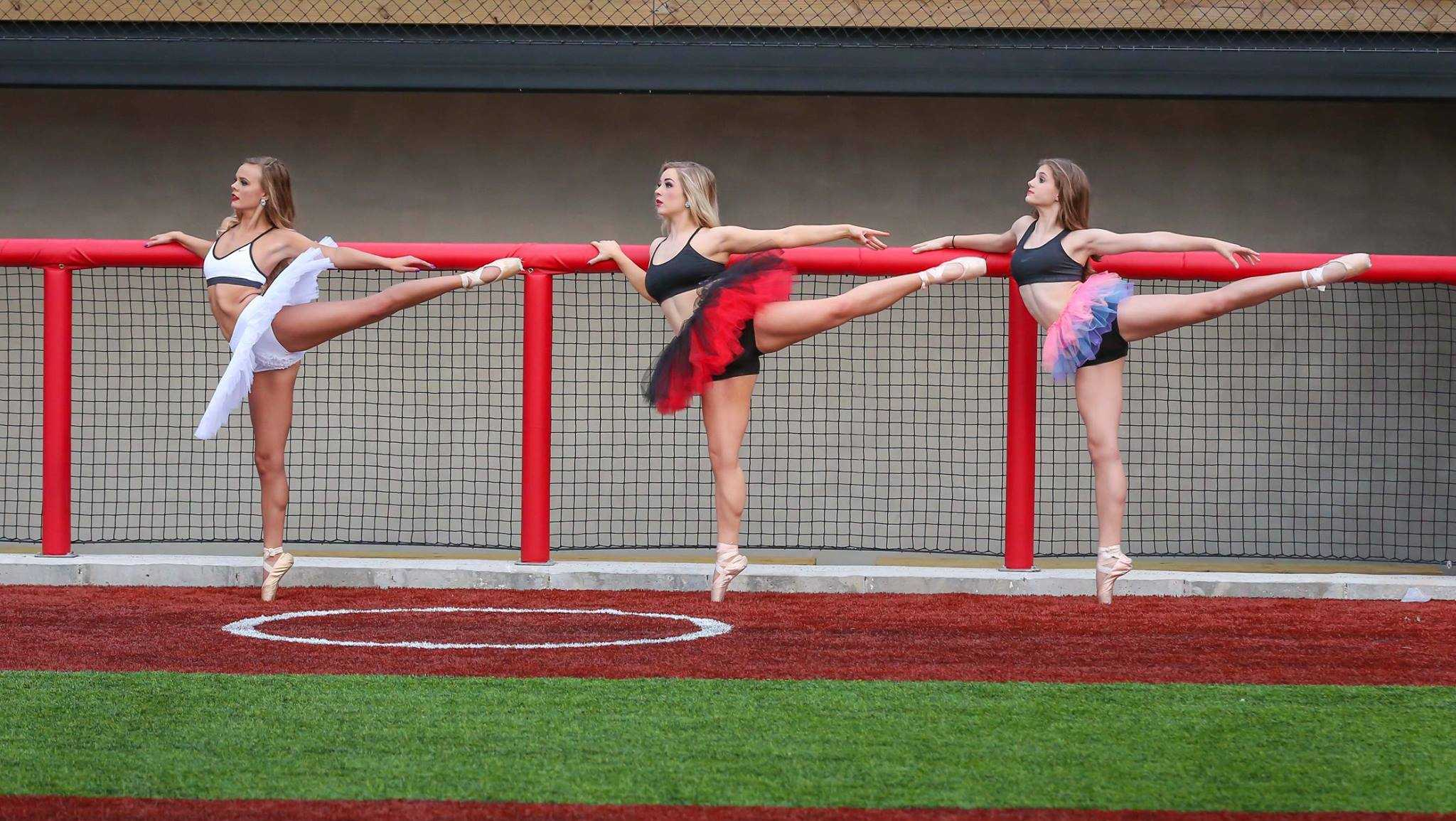 Ballet, Baseball photo shoot