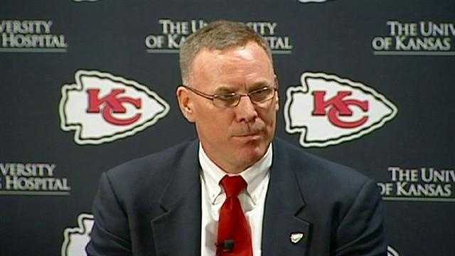 "The Kansas City Chiefs introduce former Green Bay Packers executive John Dorsey as the team's new general manager, a hiring he calls his ""dream job."""