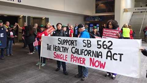 Hundreds of nurses rallied on Wednesday, April 28, 2017, at the California Capitol in support of a single-payer health care system.