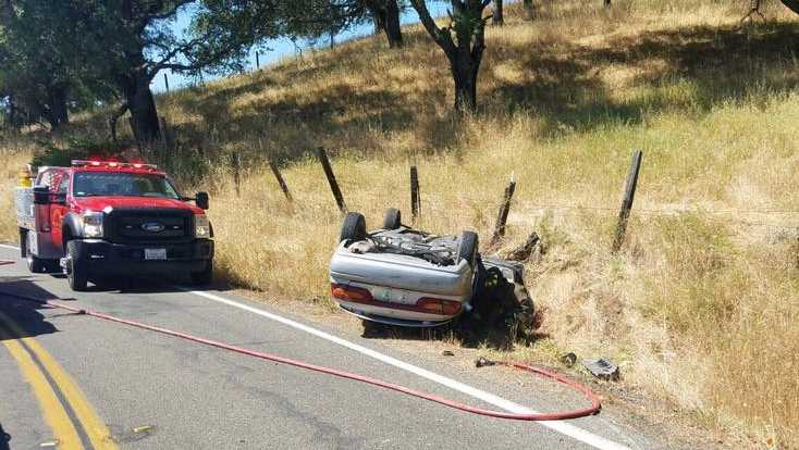 Two cars crashed in a rural area of Solano County on Saturday, May 20, 2017, the Solano County Sheriff's Office said.