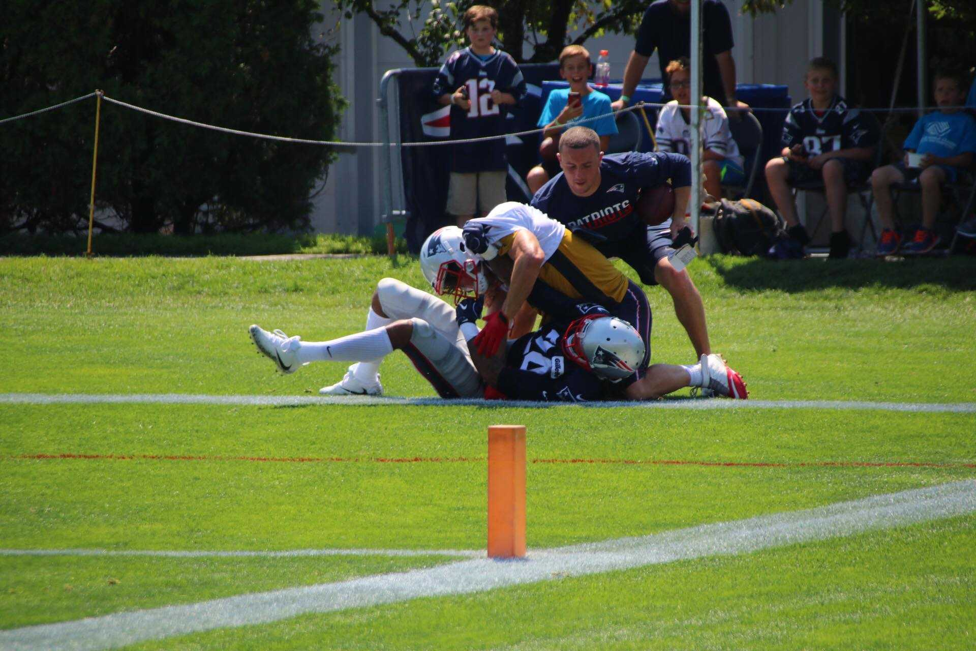 Julian Edelman, Stephon Gilmore tossed from practice after tussle