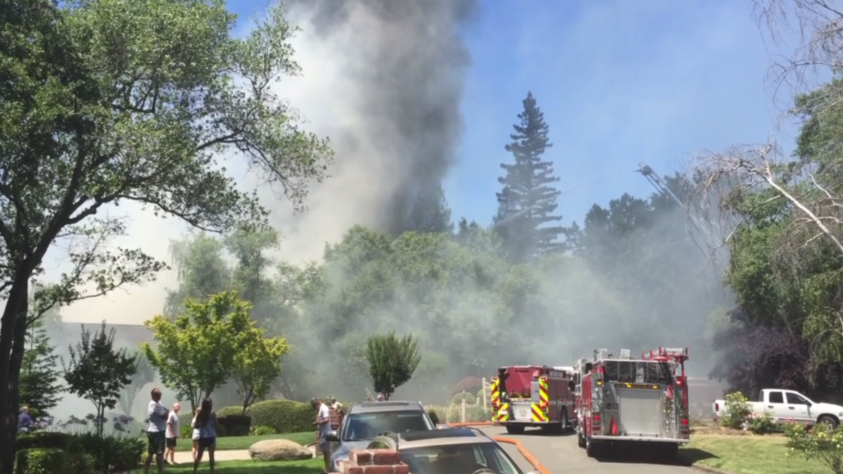The South Placer Fire departmentDepartment battled a home fire Sunday in Granite Bay.