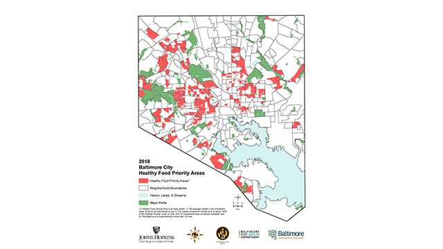 Baltimore Healthy Food Priority Areas