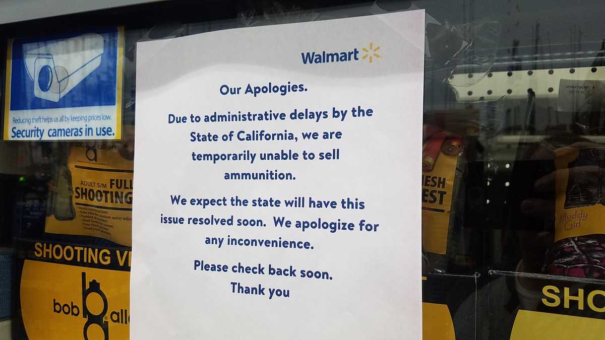 131 Walmart stores stop selling ammo after Calif. Department of ...