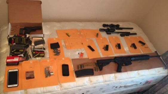 Officers seized these weapons and ammunition on Saturday, July 22, 2017, during a probation search at a home, the Stockton Police Department said.