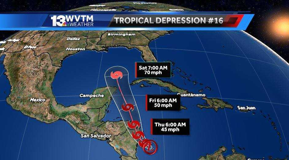Local weather quiet while potential tropical system heads for Gulf