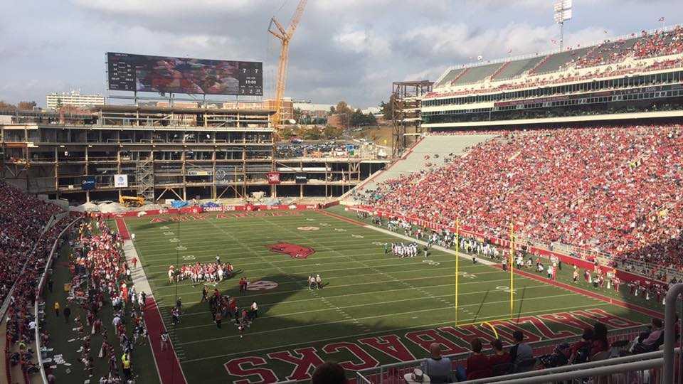 Donald W. Reynolds Razorback Stadium in the third quarter of Arkansas' game against Coastal Carolina on Nov. 4, 2017