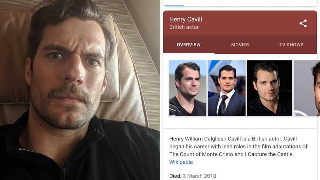 Henry Cavill Death hoax