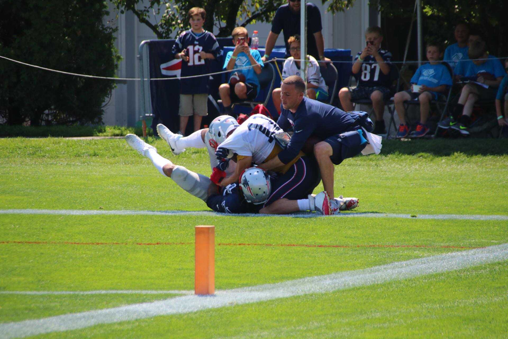 Julian Edelman, Stephon Gilmore tossed from practice