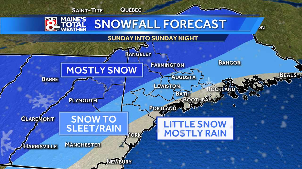 Snow for Darien in the forecast early Friday, Sunday afternoon