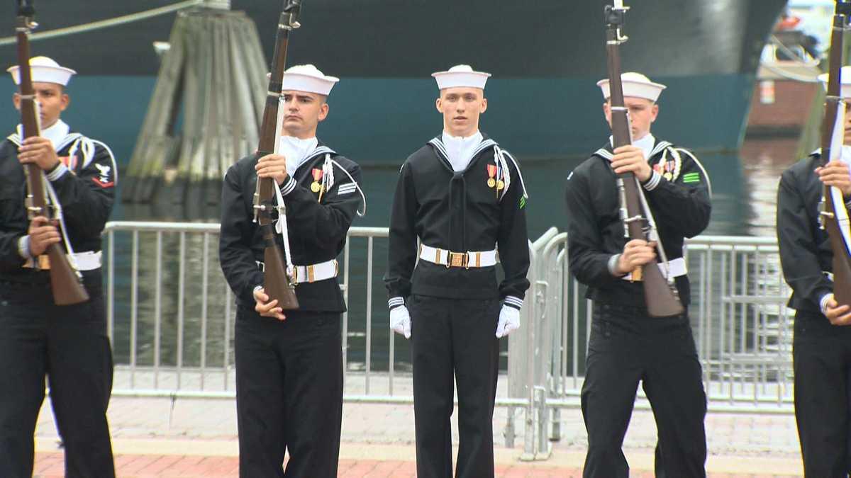 Flipboard Us Navy Ceremonial Guard Drill Team Performs During - Us-navy-ceremonial-guard