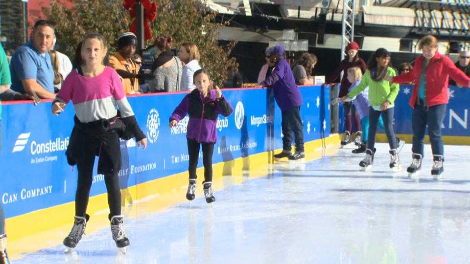 Pandora Ice Rink at Baltimore's Inner Harbor