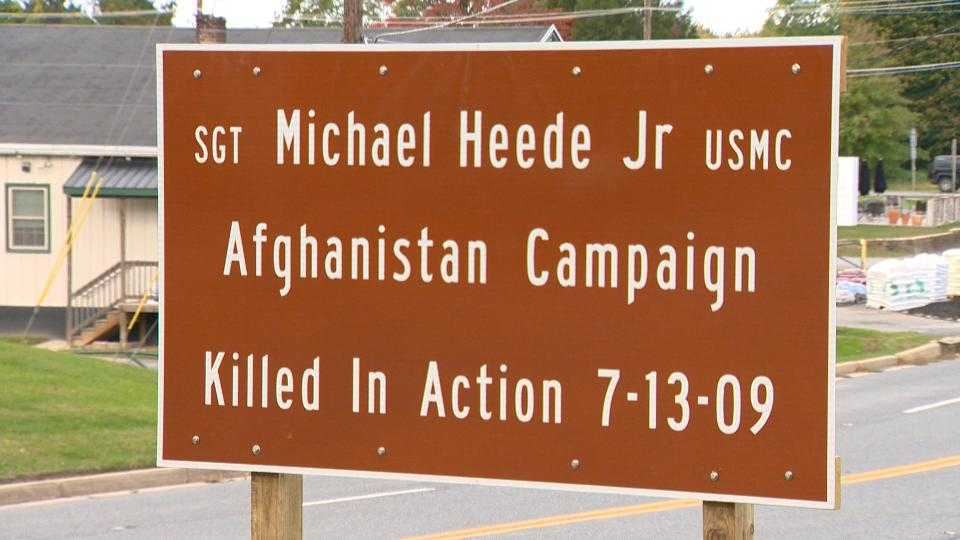Michael Heede Jr. highway sign