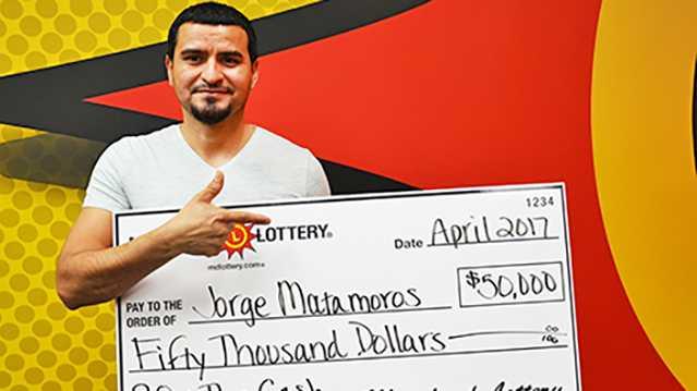 Lottery winner Jorge Matamoros