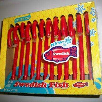 Swedish Fish Candy Canes