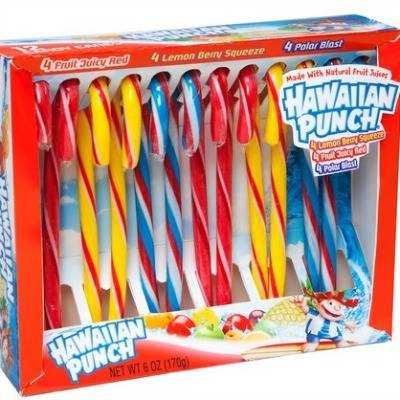 Hawaiian Punch Candy Canes