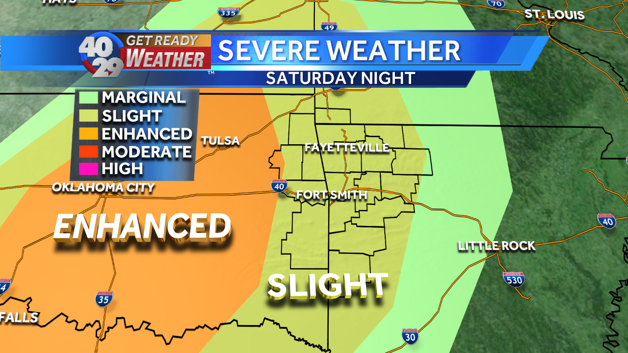 Significant severe weather late Saturday