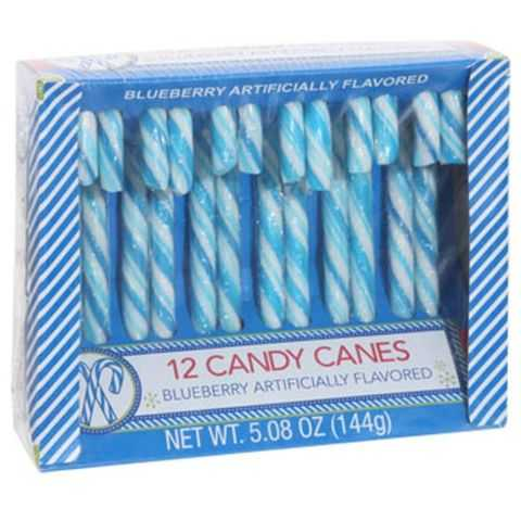 Blueberry Candy Canes