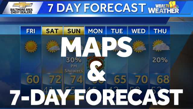Maps and 7-Day Forecast