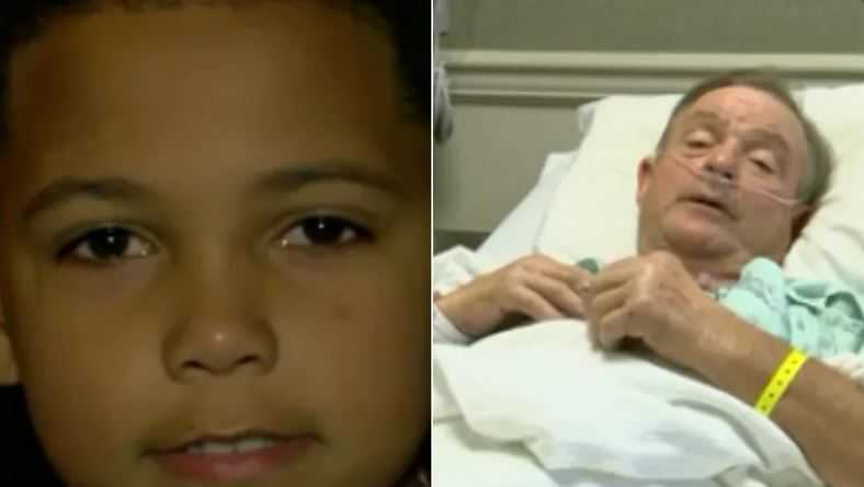 Boy saves man's life