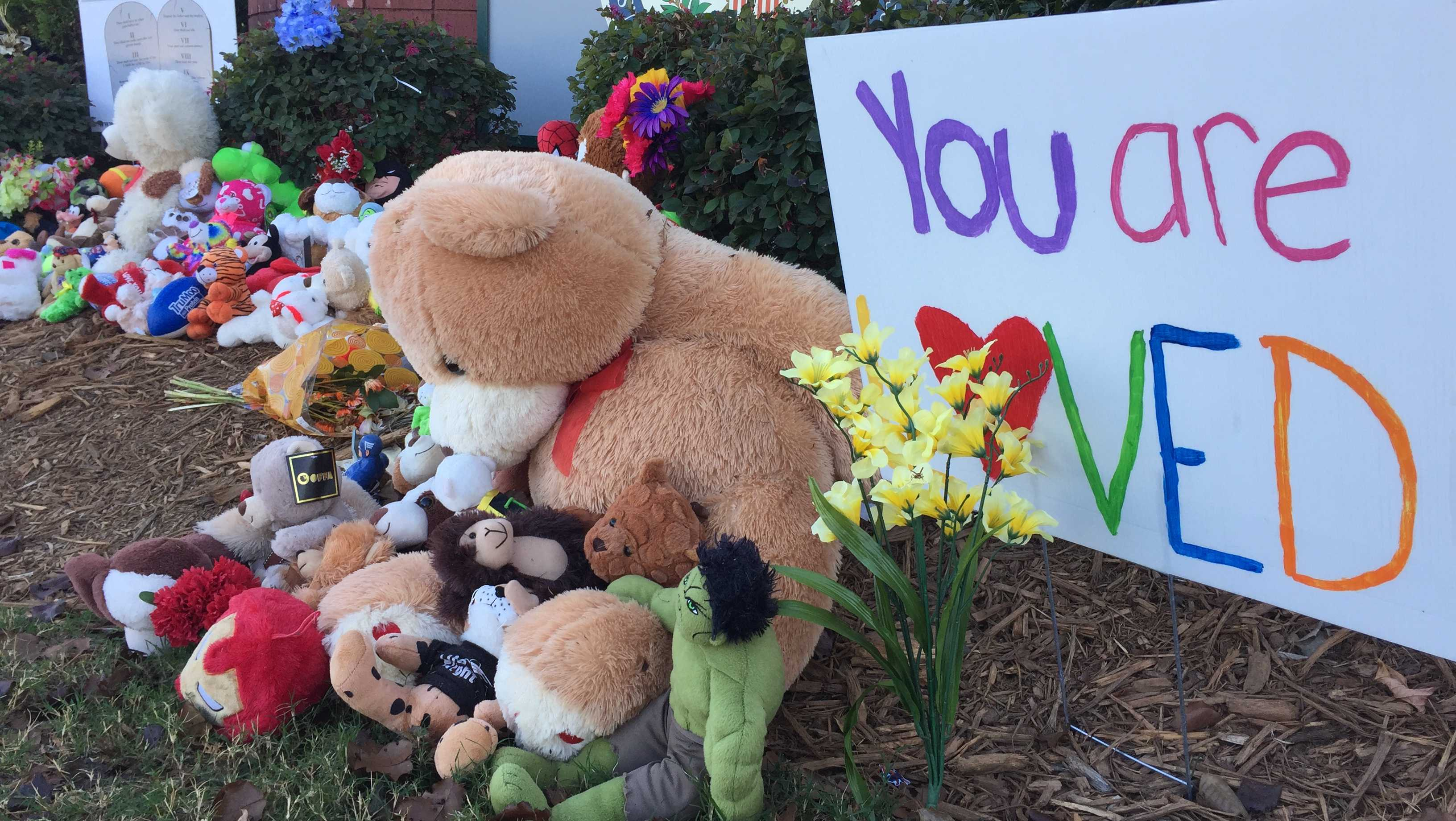 A memorial for Jacob Hall continues to grow one month after the shooting