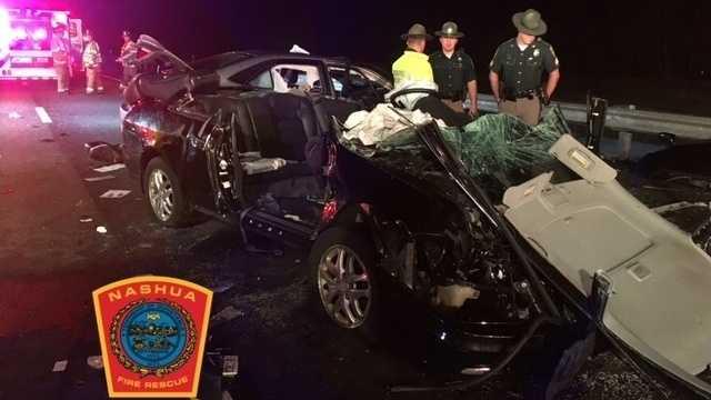 3 seriously hurt in wrong-way crash in Nashua