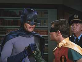 Adam West and Burt Ward as Batman and Robin