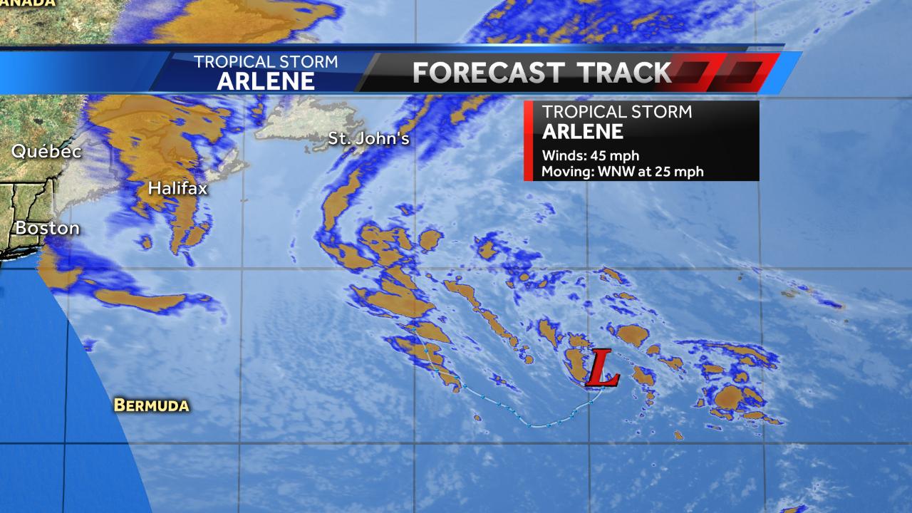 Tropical depression 1 forms in Atlantic Ocean